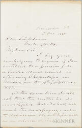 Longstreet, James (1821-1904) Autograph Letter Signed, 2 October 1885.