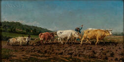 After Rosa Bonheur (French, 1822-1899)      Copy After Plowing in Nivernais