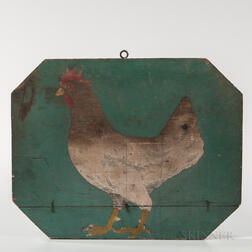 Two-sided Painted Pictorial Chicken Sign