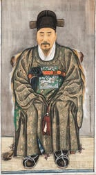 Chae Yongshin (1850-1941), Hanging Scroll Portrait of an Official