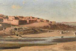 Charles Francis Browne (American, 1859-1920)  Pueblo of the Zuni, New Mexico
