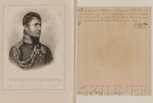 King Frederick William III (1770-1840), and Queen Louisa (1776-1810) of Prussia