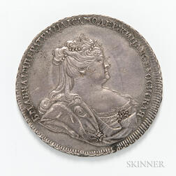 1738 Russian Anna Rouble