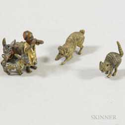 Three Austrian Cold-painted Bronze Figures
