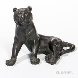 Cast Bronze Tiger