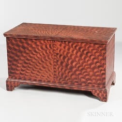 Paint-decorated Poplar Blanket Chest