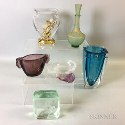 Six Art Glass Vessels