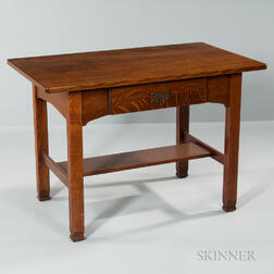 Quaint Arts and Crafts Single-drawer Desk