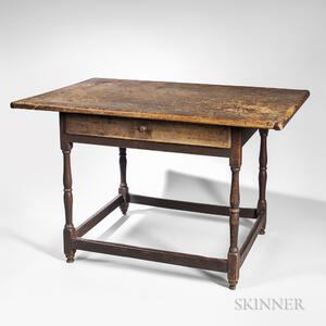 Painted Pine and Maple Tavern Table