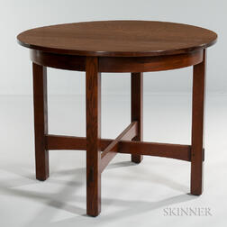 L. & J.G. Stickley Round Table