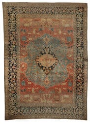 Antique Mohtesham Kashan Carpet