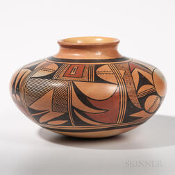 Hopi Polychrome Pottery Vessel