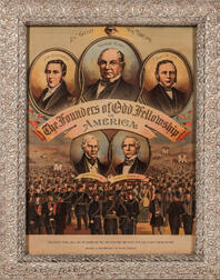 Three Framed Odd Fellows Founders Lithographs