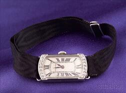 Art Deco Platinum and Diamond Wristwatch, Longines, Boucheron