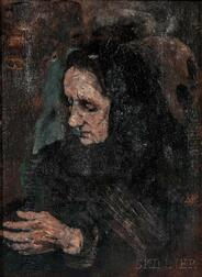 Théodule Ribot (French, 1823-1891)      Study for a Portrait of the Artist's Sister