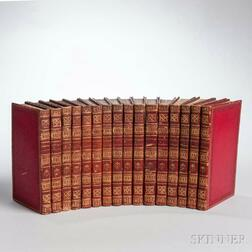 Decorative Bindings, Sets, Sixteen Volumes, James Sargent Storers (1771-1853) Antiquarian and Topographical Cabinet [and] The Antiquar