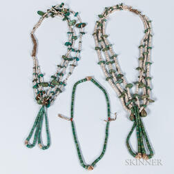 Three Navajo Turquoise Necklaces