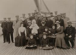 Gelatin Silver Print of the Imperial Russian Royal Family Aboard the Standart