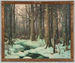 Moore Smith (American, 1890-?)      Forest Stream in Winter