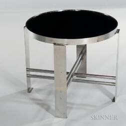 Machine Age-style Round Low Table
