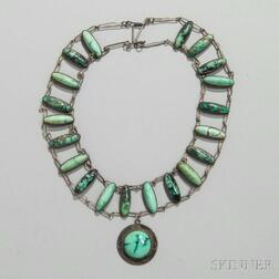 Hopi Silver and Turquoise Necklace