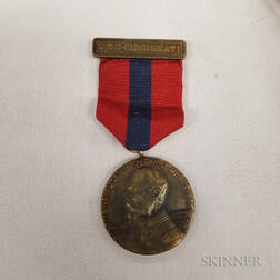 Group of Spanish American War-era Medals