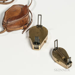 Two Lacquered Brass Clinometers