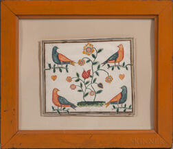 American School, Early 19th Century      Birds and Flowers