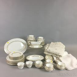 Fifty-eight-piece Royal Worcester Porcelain Dinner Service