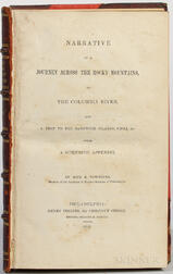 Townsend, John Kirk (1809-1851) Narrative of a Journey across the Rocky Mountains, to the Columbia River, and a Visit to the Sandwich I