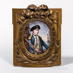 After Johann-Elias Haid (Augsburg, 1739-1809)      Enamel Portrait Miniature of Commander John Paul Jones