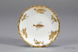 Twelve Limoges Porcelain Fish Plates