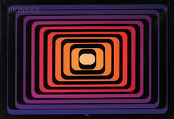 Yvaral (Jean-Pierre Vasarely) (French, 1934-2002)      Progression Polychrome A