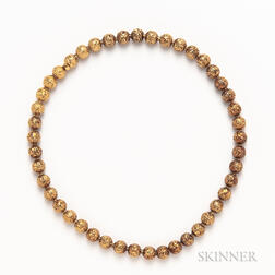 14kt Gold Bead Necklace