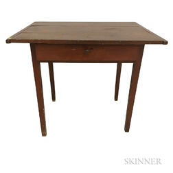 Country Red-stained Maple Tavern Table