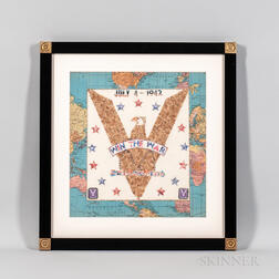 "Patriotic ""Win the War"" Eagle Stamp Art Picture"