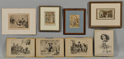 Eight Prints by Daumier and Rowlandson.     Estimate $50-75