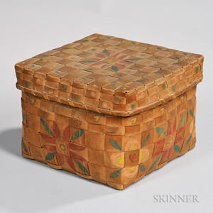 Native American Paint-decorated Woven Splint Basket