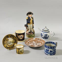 Seven English and Chinese Export Ceramic Items