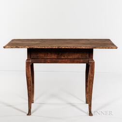 Rare Queen Anne Maple and Pine Table