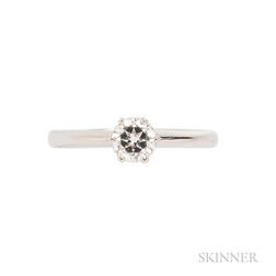 Platinum and Diamond Ring, Asprey