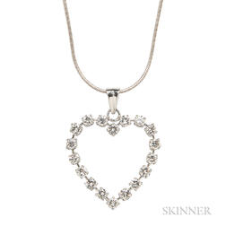 Platinum and Diamond Pendant, Tiffany & Co.