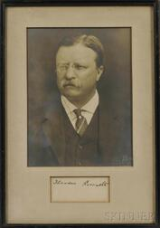 Roosevelt, Theodore (1858-1919) Photograph and Signature.