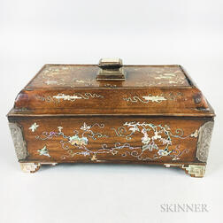 Mother-of-pearl-inlaid Scholar's Box and Cover