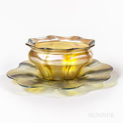 Tiffany Studios Favrile Bowl and Plate