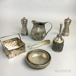 Group of Cambodian Silver Hollowware
