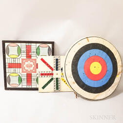 Two Game Boards and an Archery Target
