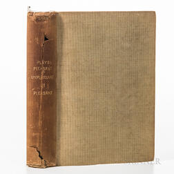Shaw, Bernard (1856-1950), Plays Pleasant & Unpleasant: The Second Volume, containing the Four Pleasant Plays.
