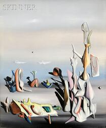 Yves Tanguy (French/American, 1900-1955)      Un peu après [A Little Later]