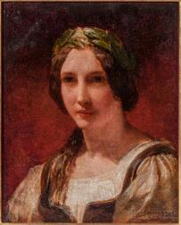 Continental School, 19th Century      Portrait of a Lady with a Laurel Wreath